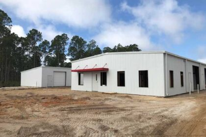 Our new storage facility in Panama City Beach shown under construction