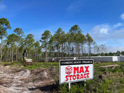 Phase 2 is coming soon! We are building more self storage units at our Panama City Beach storage facility.